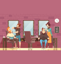 Barbershop background vector