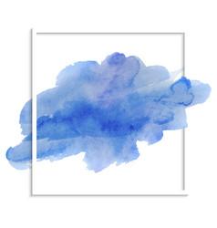 beautiful blue watercolor texture vector image
