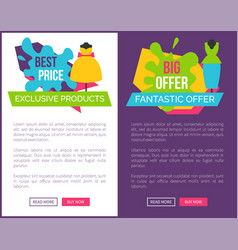 Best exclusive products big fantastic offer women vector