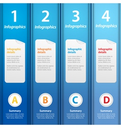 blue folders infographic vector image