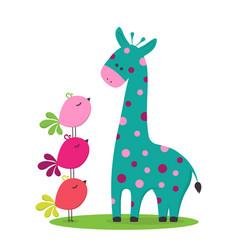 Cartoon cute giraffe vector