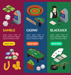 casino and gambling game banner vecrtical set vector image vector image