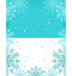 christmas template light blue and white vector image