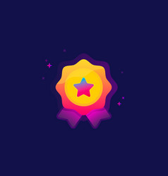 Color award icon vector