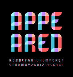 Color font alphabet with overlay effect letters vector