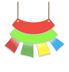 colored flags hanging form suspended sales signs vector image