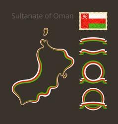 Colors of Oman vector
