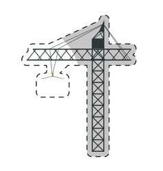 crane machine icon vector image