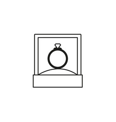 diamond ring box icon vector image