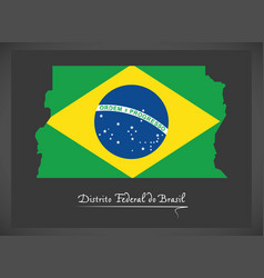 distrito federal do brasil map with brazilian vector image