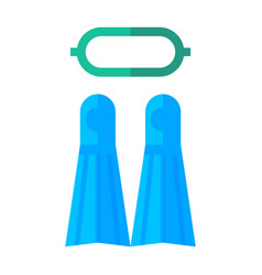 Diving and snorkelling equipment vector