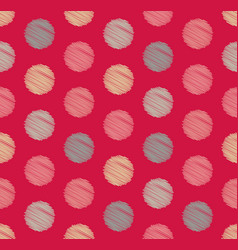dots circle geometric seamless pattern background vector image