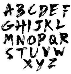dry brush texture font set vector image