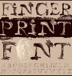 Fingerprint Font vector