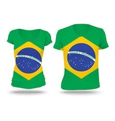Flag shirt design of Brazil vector image