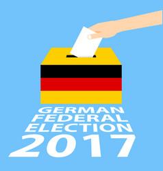 German federal election 2017 vector