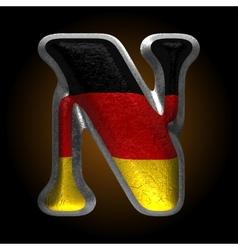 Germany metal figure n vector