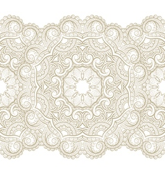 golden Seamless pattern with floral elements vector image