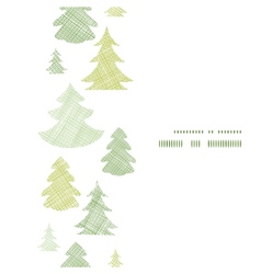 Green Christmas trees silhouettes textile vertical vector image