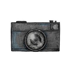 Hand drawn camera vector image