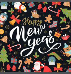Happy new year social media banner template vector