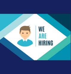 hiring audience recruitment customer client job vector image