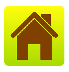 home silhouette brown icon vector image