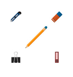icon flat stationery set of pencil cutter vector image
