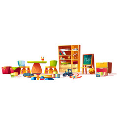 kindergarten toys set games for playground vector image