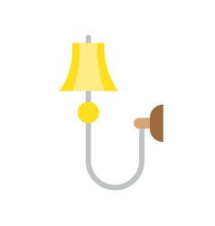 lantern or lamp icon flat style vector image