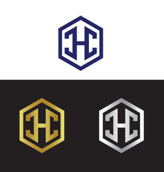 Letter H in polygon vector