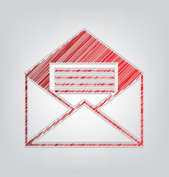 Letter in an envelope sign red vector