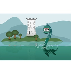 loch ness vector image vector image