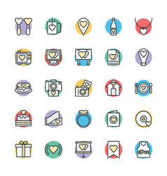 Love and Romance Cool Icons 3 vector image