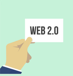 man showing paper web 20 text vector image