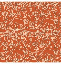 Monkeys seamless pattern vector image