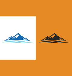 Mountain wave logo vector