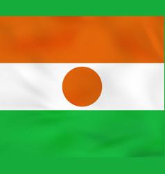 Niger waving flag niger national flag background vector