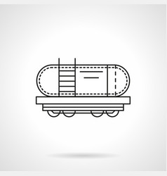 Rail tank flat line icon vector