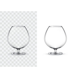 realistic glasses for alcohol vector image