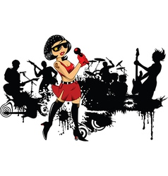 Rock band cartoon vector image