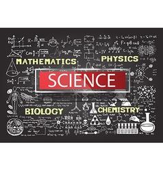 science on chalkboard vector image