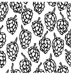 seamless with hops beer pattern isolated on a vector image