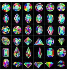 Set precious and artificial stones different vector
