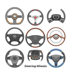 steering wheel car wheeling control device vector image