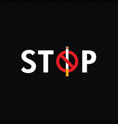 Stop smoking icon on dark background vector