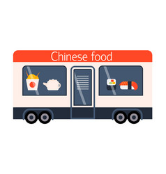 street food festival chinese trailer vector image