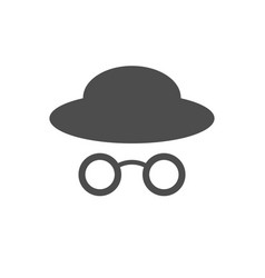 stylist profile old glasses hat symbol design vector image