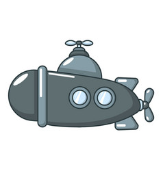 submarine sea icon cartoon style vector image