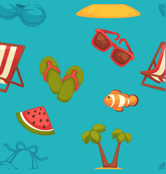 Summer bright seamless pattern of seasonal vector